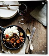 Red Wine Braised Beef Acrylic Print