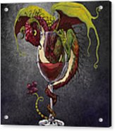 Red Wine Dragon Acrylic Print