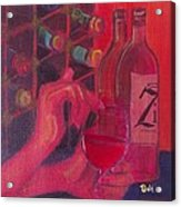 Red Wine Room Acrylic Print by Debi Starr