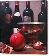 Red Wine With Pomegranates Acrylic Print