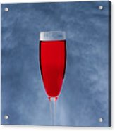 Red Wine With Storm Clouds Acrylic Print