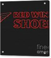 Red Wing Shoes Painted Acrylic Print