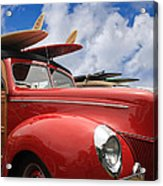 Red Woodie Acrylic Print