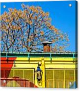Red Yellow And Blue Building Acrylic Print
