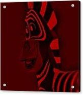 Red Zebra Acrylic Print