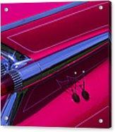 Red1959 Cadillac Acrylic Print