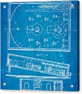 Redgrave Bagatelle Patent Art 1871 Blueprint Acrylic Print