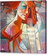 Redhead Acrylic Print by Jennifer Croom