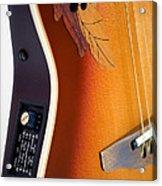 Redish-brown Guitar Acrylic Print