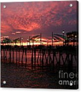 Redondo Beach Pier At Sunset Acrylic Print