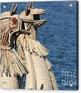 Reed Boat Lake Titicaca Acrylic Print