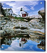 Reflected Lighthouse At Pemaquid Point Acrylic Print