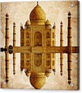 Reflected Taj Mahal Acrylic Print