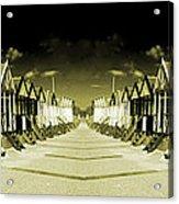 Reflected Yellow Huts  Acrylic Print