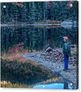 Reflecting On Fall Foliage Reflection Acrylic Print