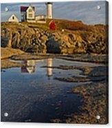 Reflecting On Nubble Lighthouse Acrylic Print by Susan Candelario