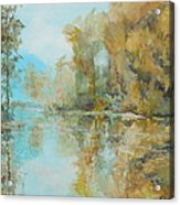Reflecting On Reflections Acrylic Print by Elizabeth Crabtree
