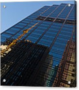 Reflecting On Skyscrapers - Downtown Atmosphere Acrylic Print