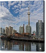 Reflecting On Toronto And Harbourfront  Acrylic Print