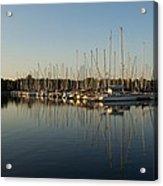 Reflecting On Yachts And Sailboats Acrylic Print