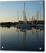 Reflecting On Yachts - Hot Summer Afternoon Mirror Acrylic Print