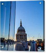 Reflecting St Pauls Acrylic Print