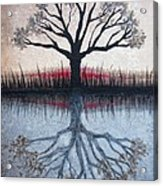 Reflecting Tree Acrylic Print by Janet King
