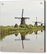 Reflecting Windmills Acrylic Print