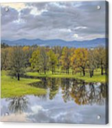 Reflection At Columbia River Gorge Acrylic Print