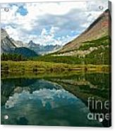 Reflection At Glacier National Park Acrylic Print