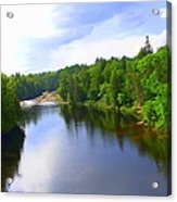 Reflection In Beaupre Quebec Acrylic Print