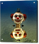 Reflection Of A Clown Acrylic Print