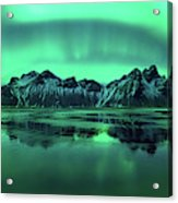 Reflection Of Aurora Borealis Acrylic Print