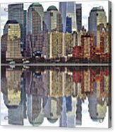 Reflection Of Downtown Nyc Acrylic Print