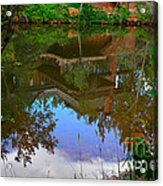 Reflection Of House On Water Acrylic Print