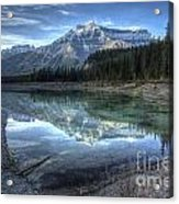 Reflection Of Mount Amery At Graveyard Flats Acrylic Print by Brian Stamm