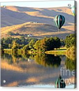 Reflection Of Prosser Hills Acrylic Print by Carol Groenen