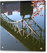 Reflection Of The Gay Street Bridge Acrylic Print