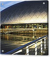 Reflection Of The Glasgow Science Acrylic Print