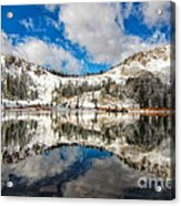 Reflection Off Of The Early Winter Water Acrylic Print