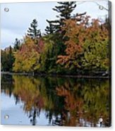 Reflection On The Raquette River Acrylic Print