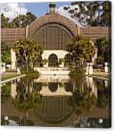 Reflection/lily Pond, Balboa Park, San Diego, California Acrylic Print