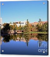 Reflection Pond Acrylic Print by Kathleen Struckle