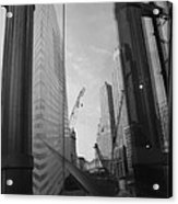 Reflections At The 9/11 Museum In Black And White Acrylic Print