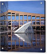 Reflections At The Library Acrylic Print