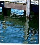 Reflections At The Marina Acrylic Print