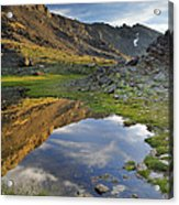 Reflections At The Mountain Lake Acrylic Print