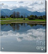 Reflections - Flooded Field - Austria Acrylic Print