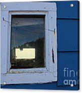 Reflections In A Shed Window - Curiosity - Fishing Acrylic Print