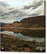 Reflections In Blue Mesa Acrylic Print